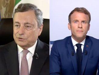 Draghi incontra Macron