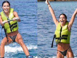Elisabetta Gregoraci allenamento vacanza