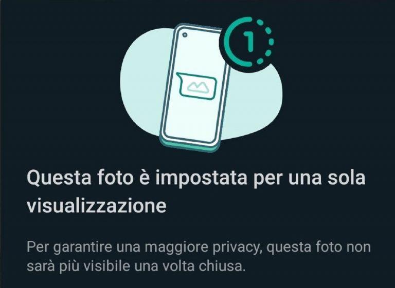 Whatsapp, come mandare foto e video che si autodistruggono