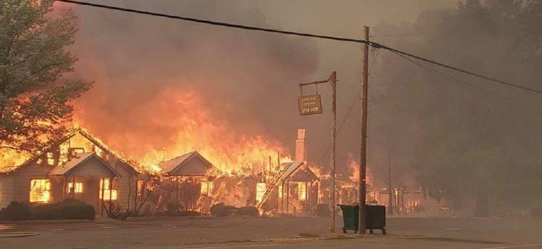 Greenville distrutta dal fuoco