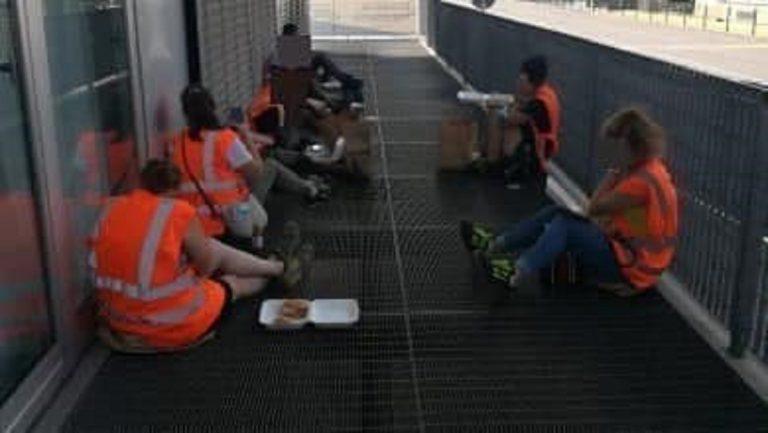 Ikea, dipendenti senza green pass mangiano seduti per terra perché esclusi dalla mensa: è polemica