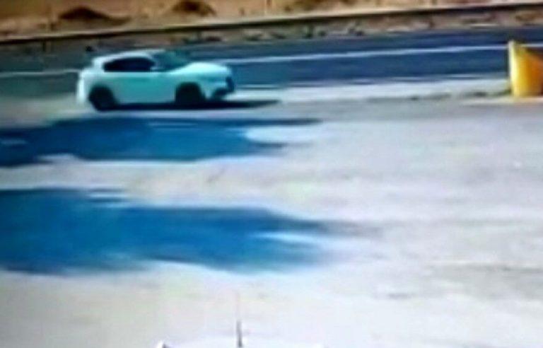 La ripresa delle telecamera nei secondi fatali prima dell'incidente