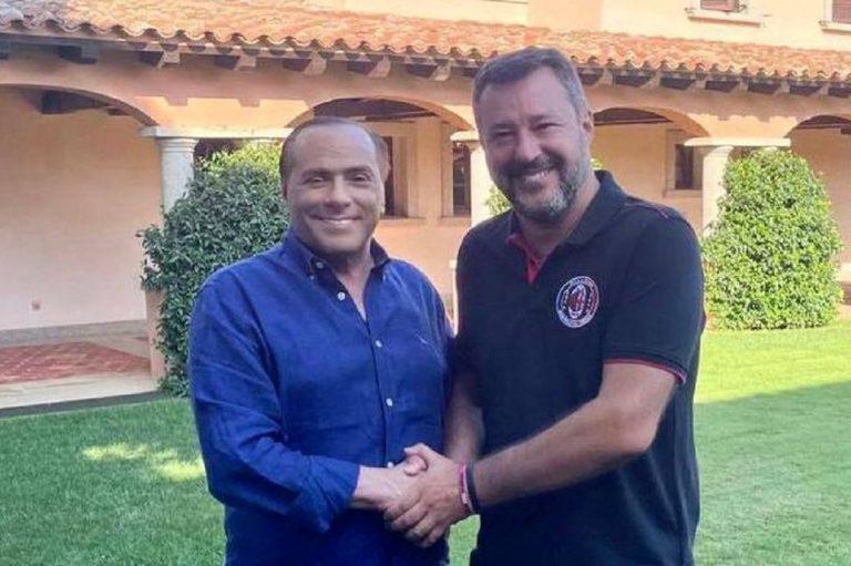 Incontro Salvini e Berlusconi