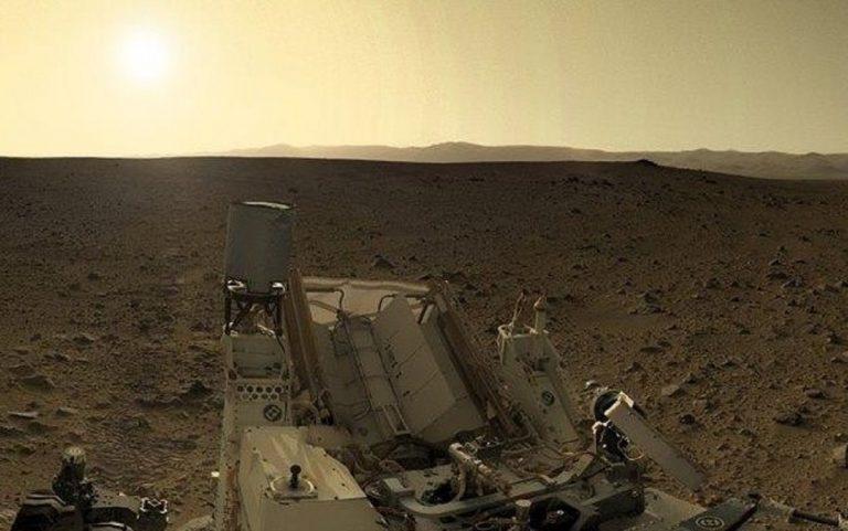 Una suggestiva immagine di Marte