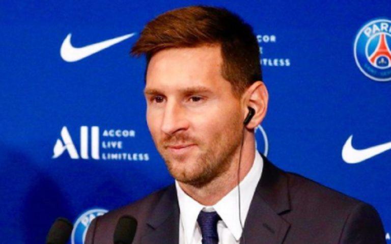 Messi PSG conferenza stampa