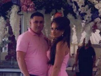 Il povero Myles Harty in foto con la promessa sposa