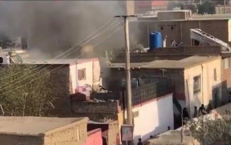 L'esplosione del razzo Usa a Kabul