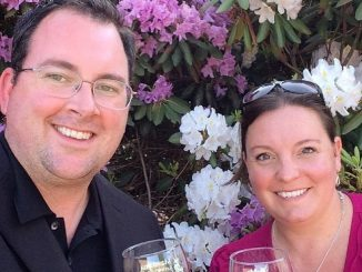 Lisa Steadman con il marito