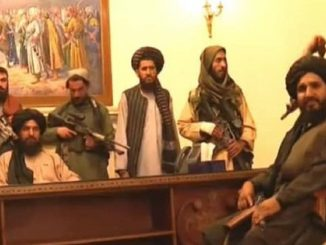 I talebano acquartierati in un palazzo di Kabul