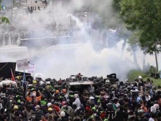 Uno scatto delle proteste in Thailandia