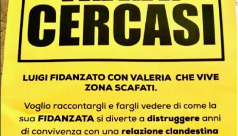 volantini fidanzata tradita Scafati