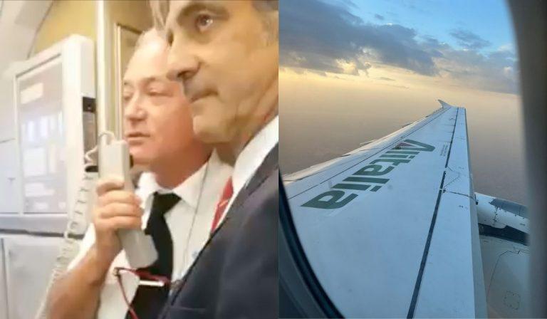 Alitalia ultimo volo pilota