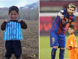 Bimbo lancia appello all'idolo Messi