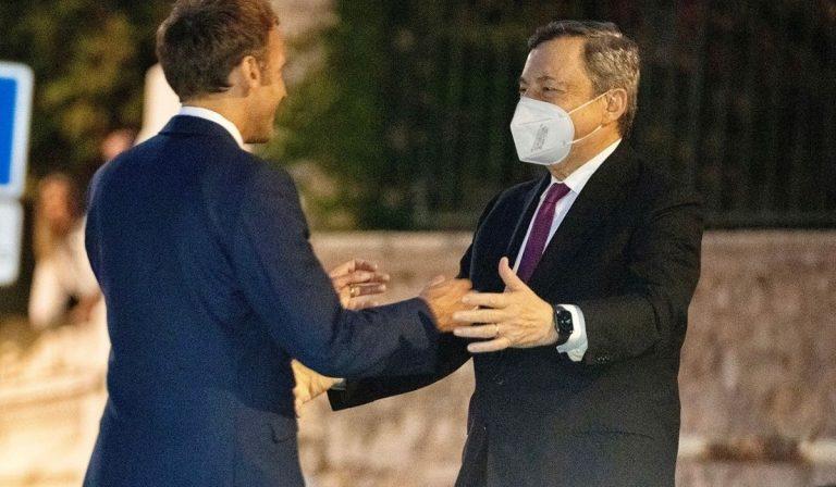 Draghi incontra Emmanuel Macron