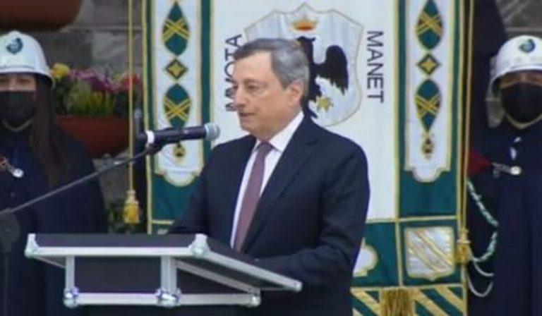 Draghi sul terremoto dell'Aquila