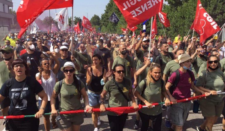 Firenze lavoratori Gkn