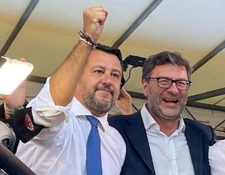 Giancarlo Giorgetti con Matteo Salvini