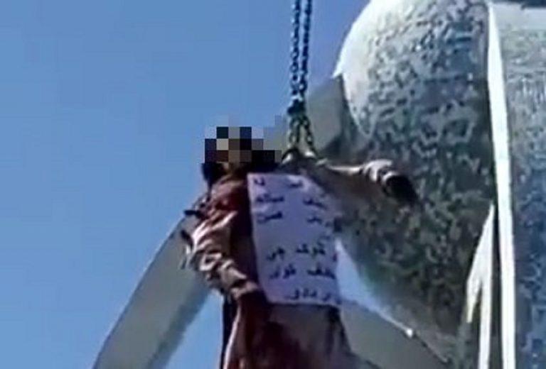 L'agghiacciante immagine di una delle impiccagioni accertate