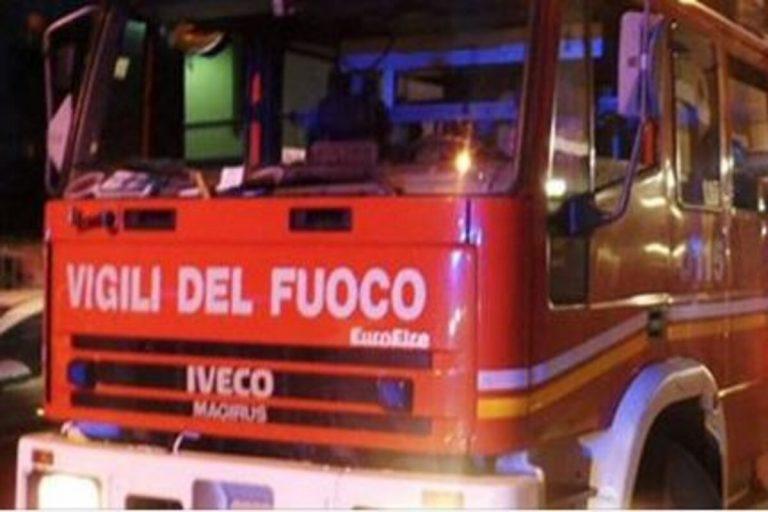Incendio a Gagliano Castelferrato