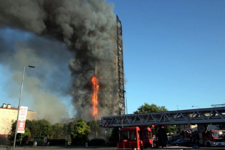 Incendio a Milano, la copertura del grattacielo bruciato non era in Alucobond