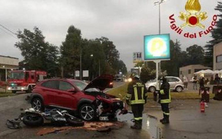 Incidente stradale a Vergiate