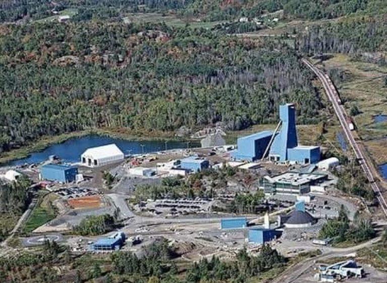 Una veduta della miniera Totten