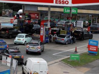 Inghilterra senza carburante