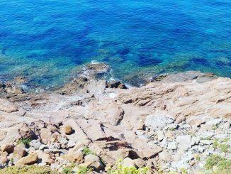 Il tratto di mare del ritrovamento, al Romito