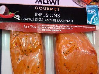 Una confezione del salmone Mowi Gourmet
