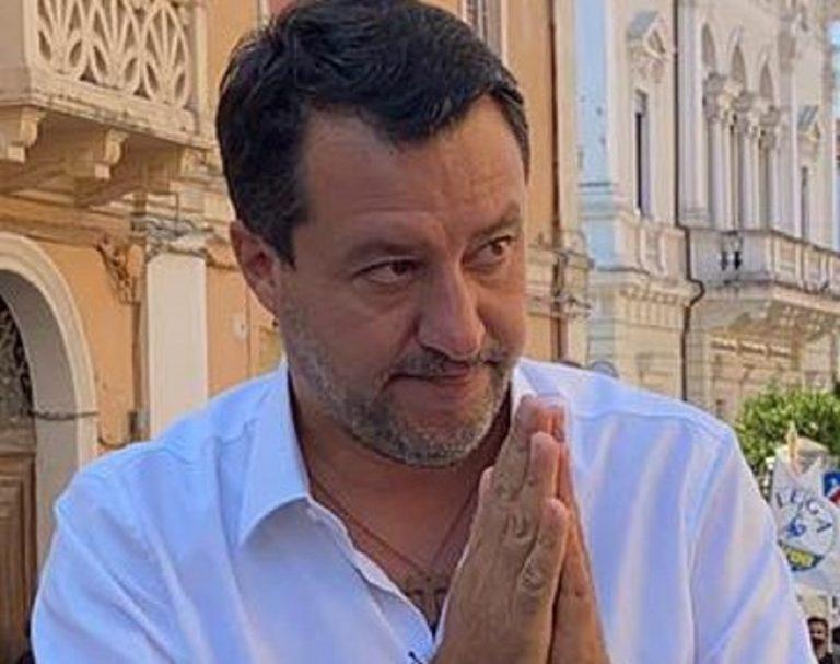 Il leader della Lega Salvini