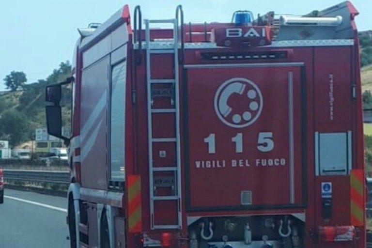 Scuolabus in fiamme Treviso