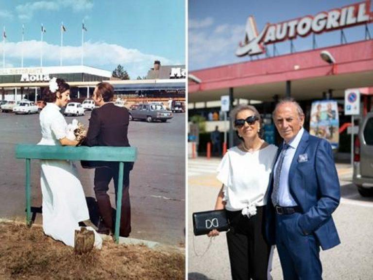 Teano, festeggiarono il matrimonio in Autogrill, 50 anni dopo le nozze d'oro nell'area di servizio