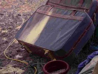 Due delle 4 valige con i resti fatti a pezzi delle vittime