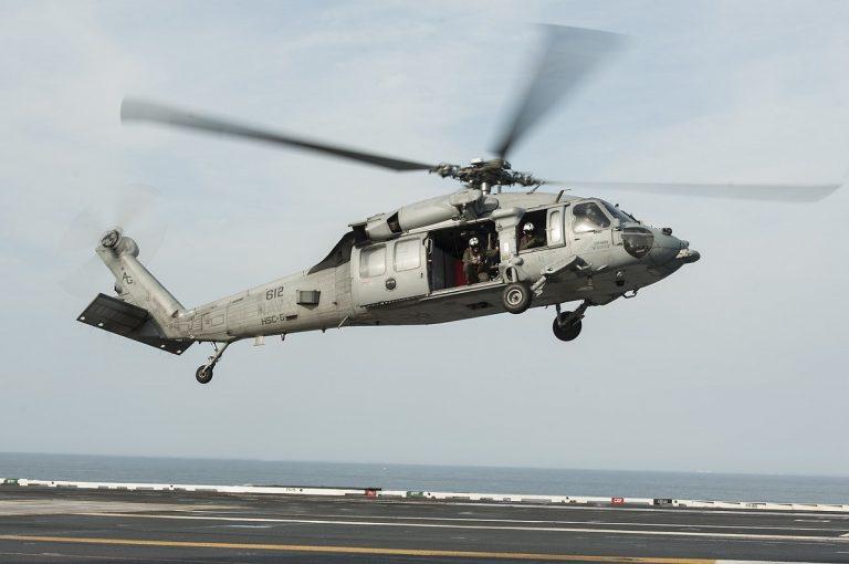 elicottero militare precipitato