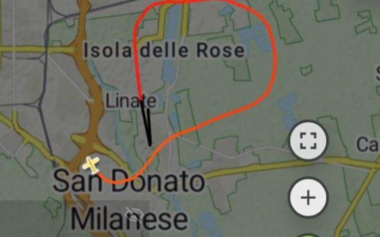 Aereo precipitato Milano rotta