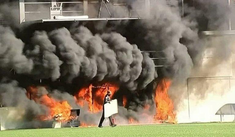 Andorra incendio stadio