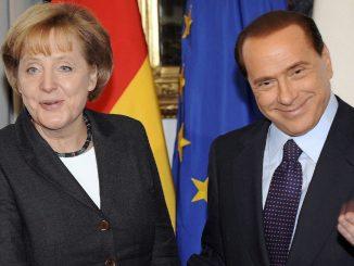 Angela Merkel e Silvio Berlusconi