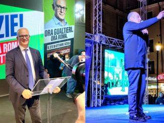 Ballottaggio amministrative Gualtieri Michetti