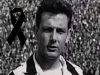 Umberto Colombo con la maglia della Juve