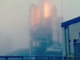 Un frame del video amatoriale del rogo dopo l'esplosione