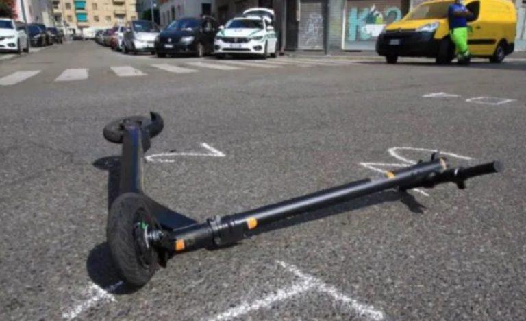 Incidente stradale a Lecce, auto contro monopattino