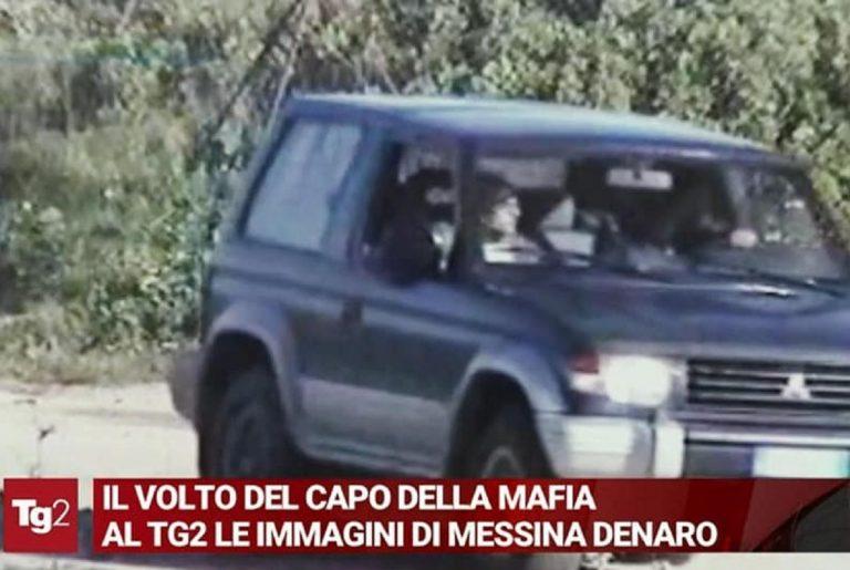 Un frame dello scoop video del Tg2 con Matteo Messina Denaro nel Suv