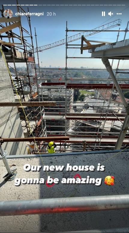 ferragni casa in costruzione