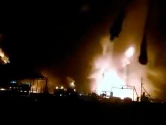 incendio giacimento petrolifero russia