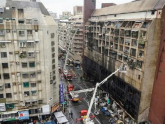 incendio grattacielo Taiwan