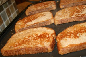 French Toast on Gridle 300x200