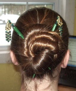 Hairstyles for Hair Sticks 250x300