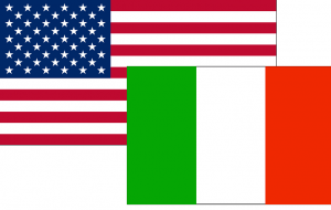 Italia USA Bandiera 300x190