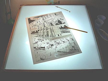 Come inchiostrare un manga - Tavolo luminoso per disegno ...